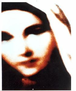 Photo of Mary which appeared on roll of film after being exposed to the light in Medjugorje