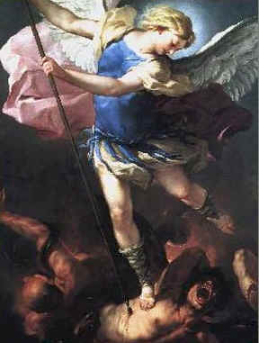 Bildergebnis für archangel michael fighting against satan's army images