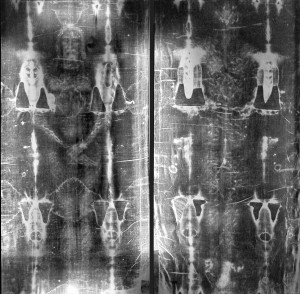 Full Length negative Images of Shroud of Turin