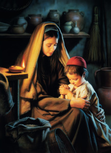 Mary and Her Little Boy Jesus
