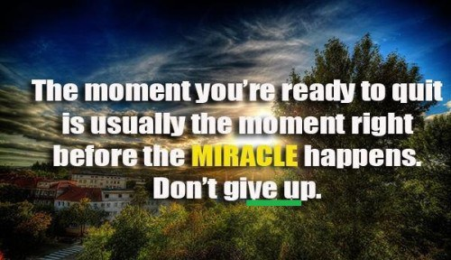 Be Persistent Wpid Miracle