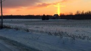 Mechaele Loraff captured this photo of yesterday's sunrise on her way to work in Michigan