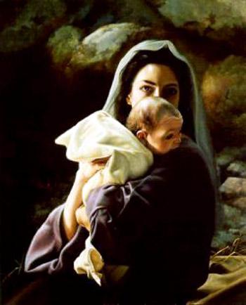 Mary holkding Jesus